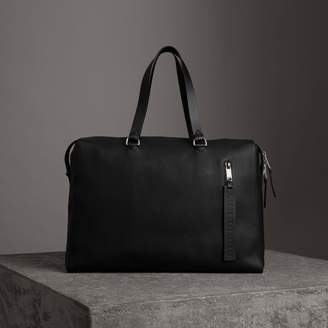Burberry Embossed Grainy Leather Holdall