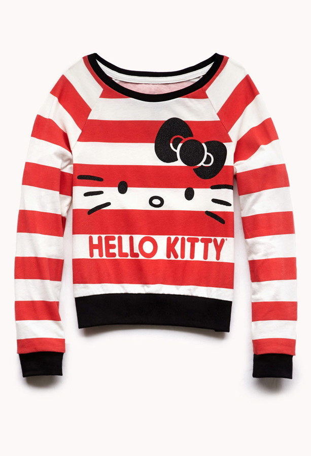 Forever 21 Girls Striped Hello Kitty Top (Kids)