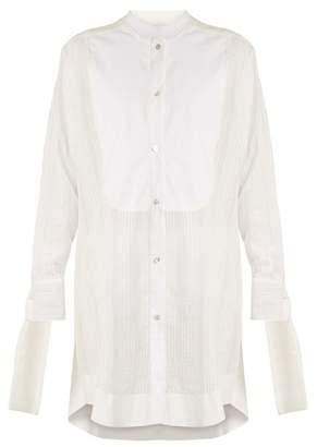 Lila Eugénie - 1822 Arrelen Cotton Blend Shirtdress - Womens - White