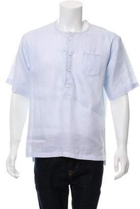 Dolce & Gabbana Henley Button-Up Shirt