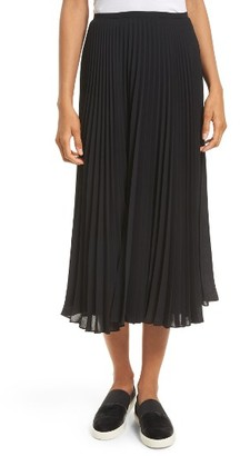 Women's Vince Pleated Chiffon Midi Skirt $265 thestylecure.com