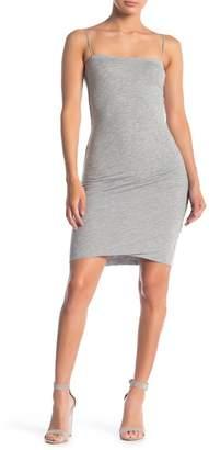 Velvet Gauzy Whisper Spaghetti Strap Bodycon Dress