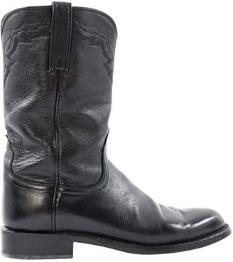 Chrome Hearts Leather cowboy boots