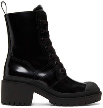 Marc Jacobs Black Bristol Laced Up Boots