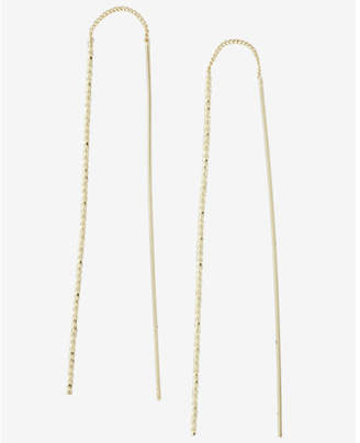 Express Twisted Stick Pull Through Earrings $12.90 thestylecure.com