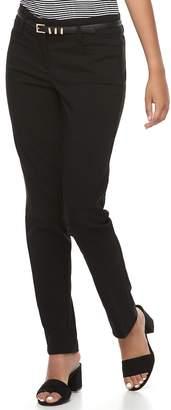 Candies Juniors' Candie's Audrey Black Skinny Dress Pants
