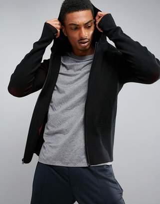 Perry Ellis 360 Sports Full Zip Knit Hooded in Black