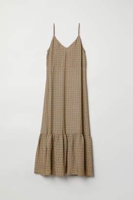 H&M Long V-neck Dress - Green