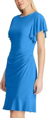 Chaps Women's Flutter-Sleeve Sheath Dress
