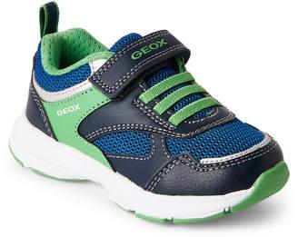 Geox Toddler/Kids Boys) Royal & Green Hoshiko Running Sneakers