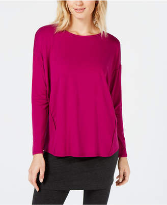 Eileen Fisher TencelTM Side-Stripe Long-Sleeve Top, Created for Macy's