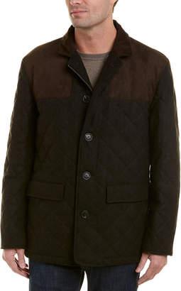 Hart Schaffner Marx Shooter Wool-Blend Coat
