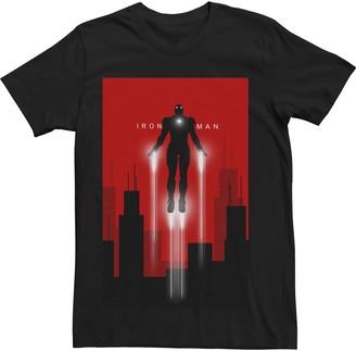 Iron Man Licensed Character Men's Marvel's Flight Deco Art Style Poster Tee