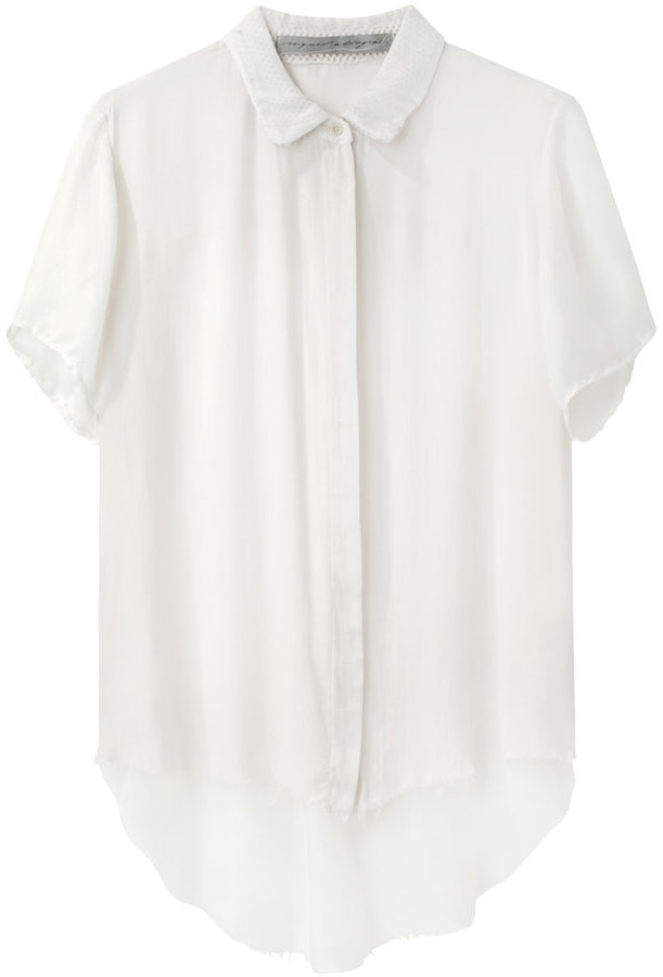 Raquel Allegra / Mesh Camp Shirt