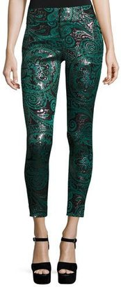 Alice + Olivia Lancy Paisley Jacquard Trousers, Multicolors $350 thestylecure.com