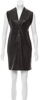 Theyskens' Theory Sleeveless Leather Dress