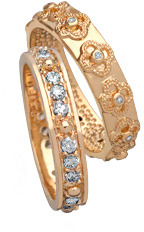 Belargo Floral and Diamond Ring Set