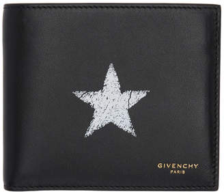 Givenchy Black Blurred Star Wallet
