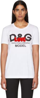 Dolce & Gabbana White Love Logo T-Shirt