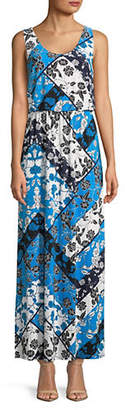 INC International Concepts Sleeveless Floral Round Neck Maxi Dress