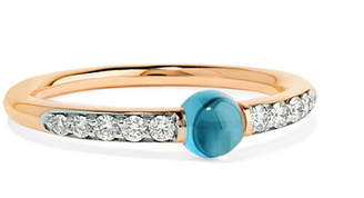 Pomellato M'ama Non M'ama 18-karat Rose Gold, Diamond And Topaz Ring
