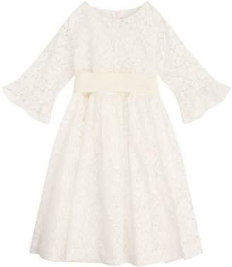 Il Gufo Floral Lace Party Dress