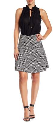 Trina Turk Vitas Glen Plaid Pleated Skirt