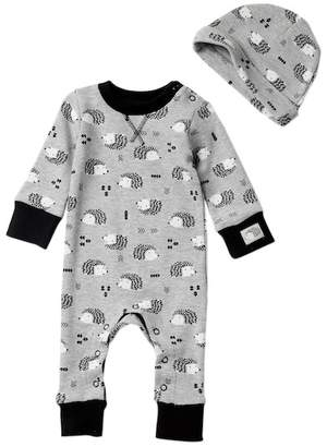 Baby Starters Hedgehog Waffle Coverall & Hat Set