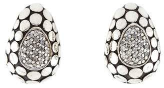 John Hardy Diamond Dot Earclips