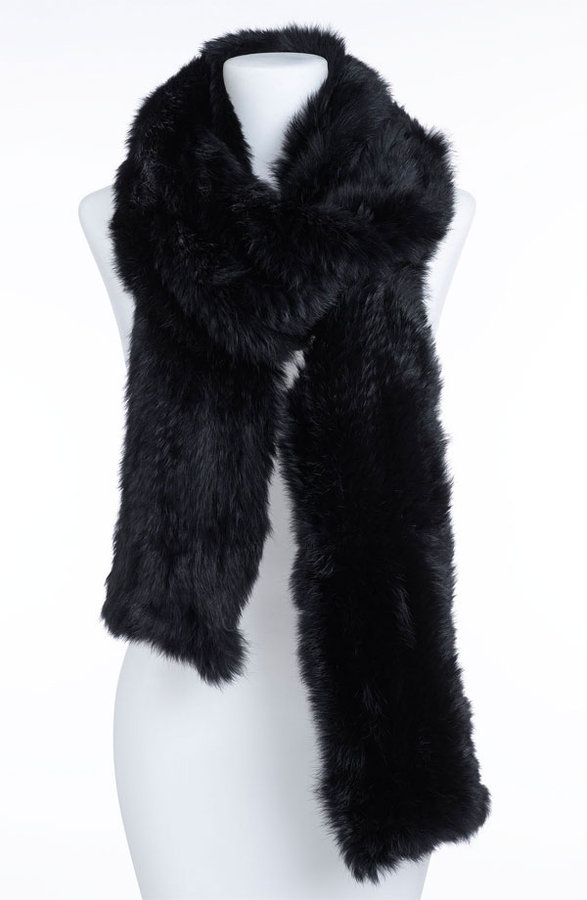 Rachel Zoe Genuine Rabbit Fur Scarf