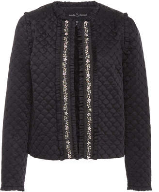 Needle & Thread Quilted Satin Jacket