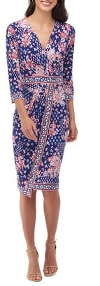 Women's Eci Floral Faux Wrap Dress $88 thestylecure.com