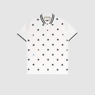 Gucci (グッチ) - ビー(ハチ)&スター付き コットン ポロシャツ
