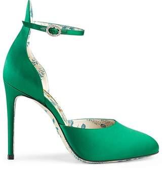 Gucci Women's Satin D'Orsay Pumps