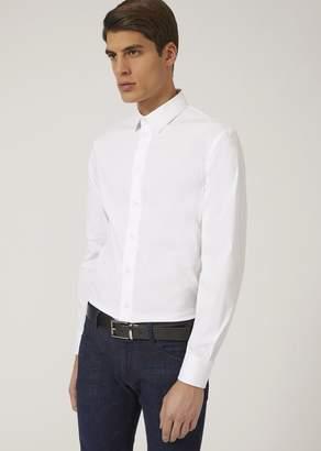 Emporio Armani Slim Fit Shirt In Stretch Cotton
