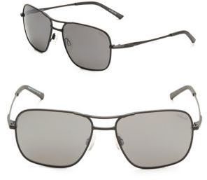 58MM Square Pilot Sunglasses $179 thestylecure.com