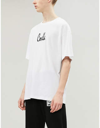 CORELLA LDN Hotline logo-print cotton-jersey T-shirt