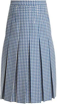 Gucci Pleated wool-blend tweed skirt