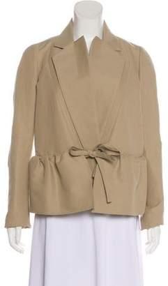 Maison Rabih Kayrouz Notch-Lapel Peplum Jacket