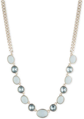 """DKNY Gold-Tone Crystal & Stone Collar Necklace, 16"""" + 3"""" extender, Created for Macy's"""
