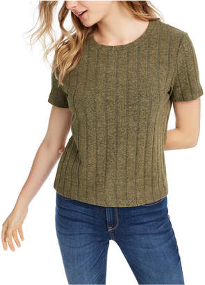 Almost Famous Crave Fame Juniors' Ribbed Top