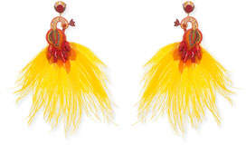 Ranjana Khan Passerine-Y Feather Drop Earrings
