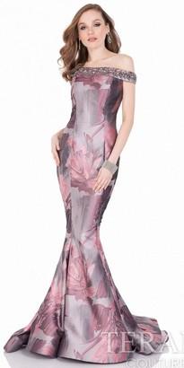 Terani Couture Floral Off the Shoulder Embellished Evening Dress $473 thestylecure.com