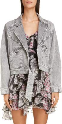 Isabel Marant Acid Wash Crop Denim Jacket