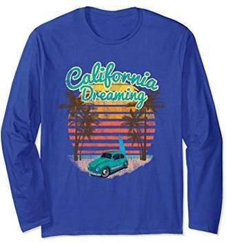Long Sleeve California Dreaming Bug Van Surfboard TShirt