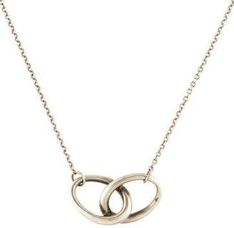 Tiffany & Co. Interlocking Oval Pendant Necklace silver Interlocking Oval Pendant Necklace