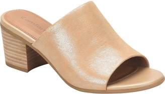 Comfortiva Leather Heeled Slide Sandals - Anabelle