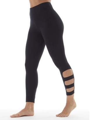 Bally Total Fitness Women's Active Stella Performance Crop Legging With Lattice Ankle
