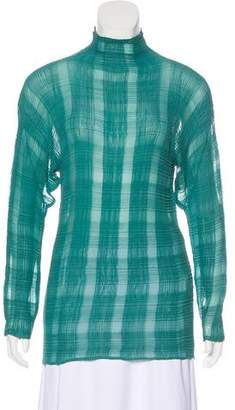 Issey Miyake Textured Long Sleeve Top