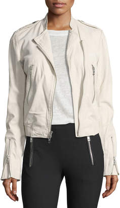 Rag & Bone Lyon Washed Leather Moto Jacket